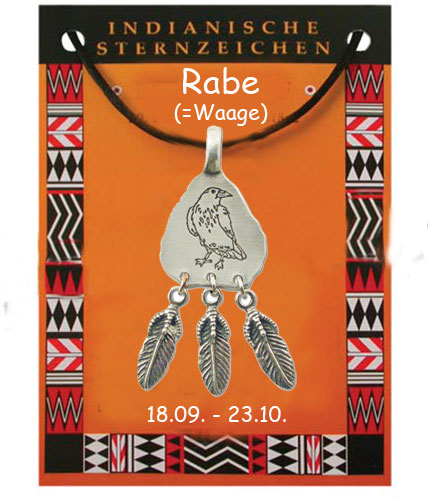 indianische sternzeichen rabe schutzamulette symbole amulett schmuck anh nger metallanh nger. Black Bedroom Furniture Sets. Home Design Ideas