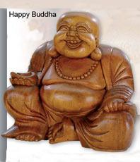 lucky happy chinese buddha buddhas holz figuren naturholz sandstein marmor kristallzentrum. Black Bedroom Furniture Sets. Home Design Ideas