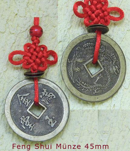 Feng Shui 6er Münzenband groß Wohlstandsmünzen I Ging Münzen
