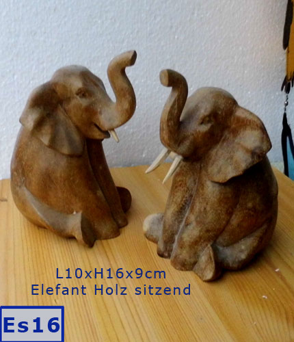 elefant holz stein ton porzellan tiere figuren symbole. Black Bedroom Furniture Sets. Home Design Ideas